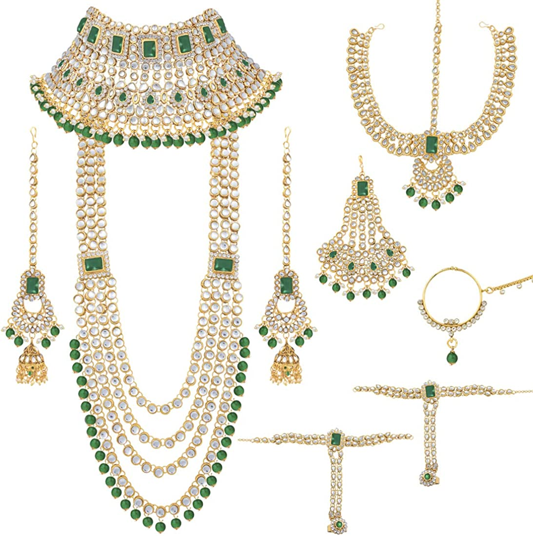 Amazon Com Aheli Indian Traditional Wedding Bridal Jewelry Set
