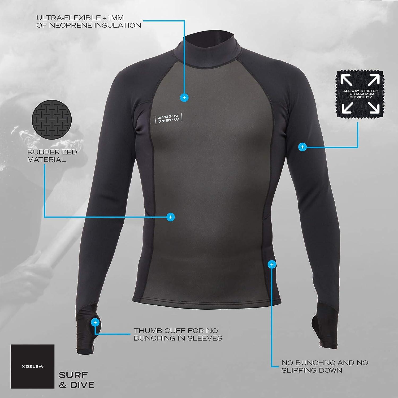 UV Sun Protection Outdoor Swim Apparel WETSOX Long Sleeve Rash Guard Wetsuit Shirt