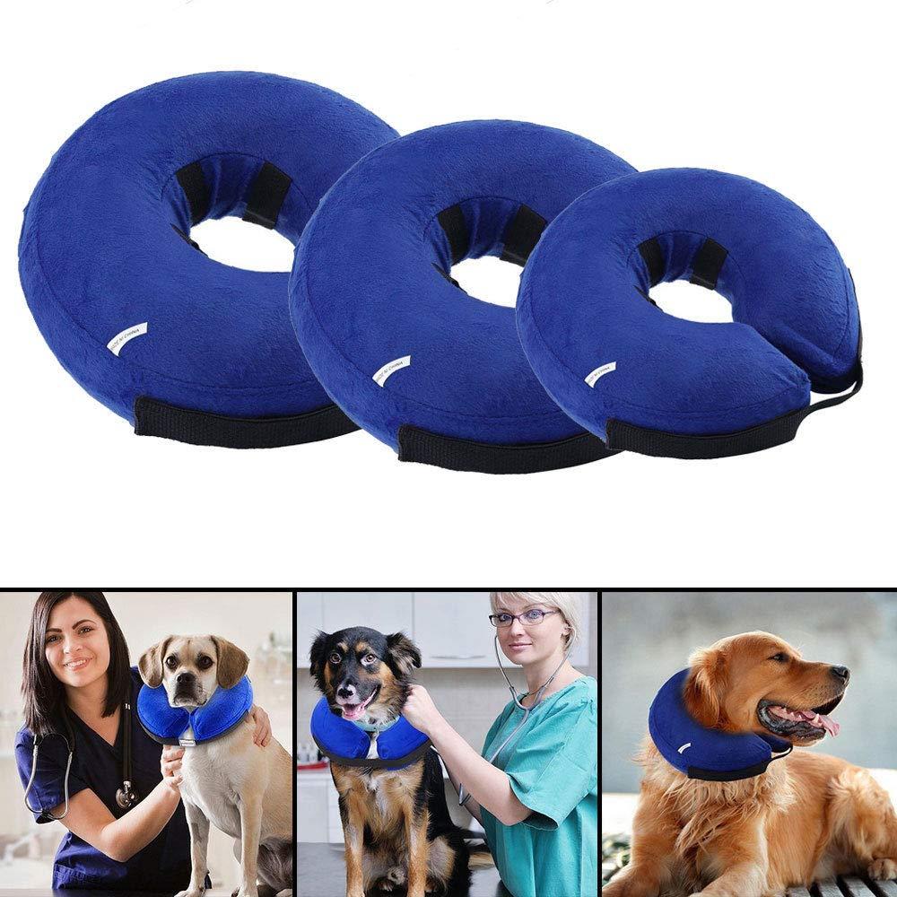 OneMoreT - Collar hinchable para mascota, para perro, gato ...