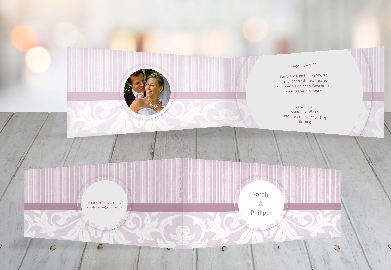 Kartenparadies Danksagung für Hochzeitsgeschenke Hochzeit Dankeskarte Streifenzauber, hochwertige Danksagungskarte Hochzeitsglückwünsche inklusive Umschläge   20 Karten - (Format  215x105 mm) Farbe  champagner B01N6THF2J | Lebendige Fo