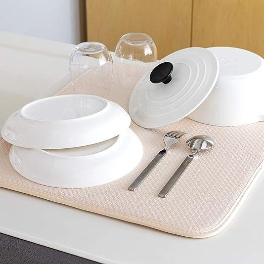 Amazon.co.jp: 【期間限定お値下げ中】水切りマット キッチン 食器 ...