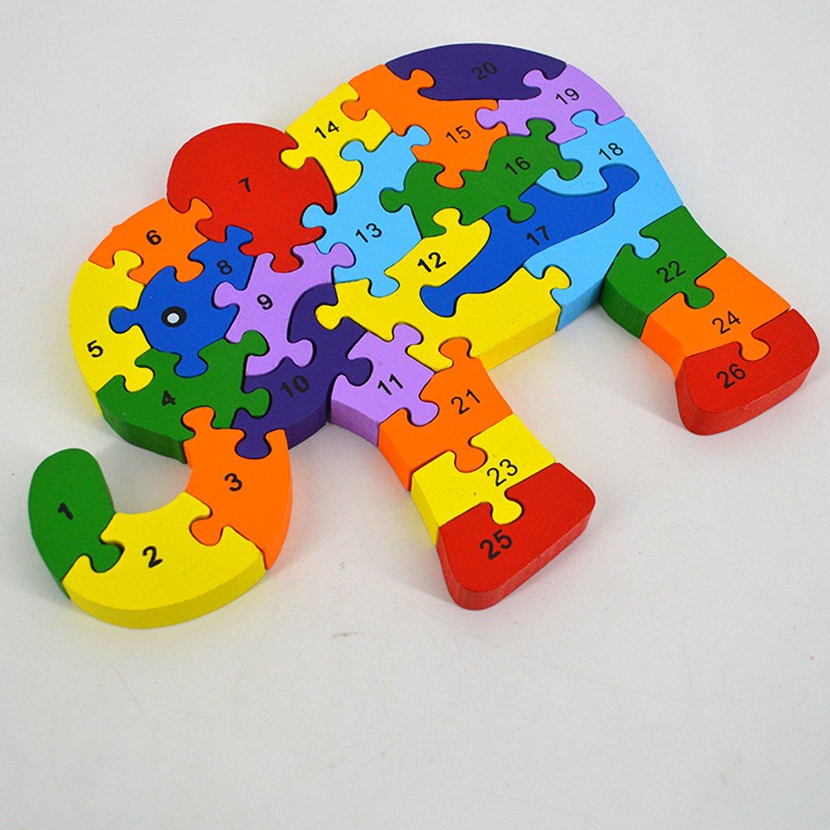 26pcs puzzle en bois b b enfant puzzle animal jouet. Black Bedroom Furniture Sets. Home Design Ideas