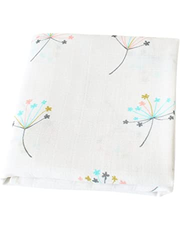 LifeTree Bebé muselina swaddle manta - Bambú algodón bebé Swaddle Wrap, eructos Cloth & cochecito