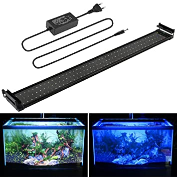 Lámpara de Acuario Iluminacion led para peces y estanques Luz Azul ...