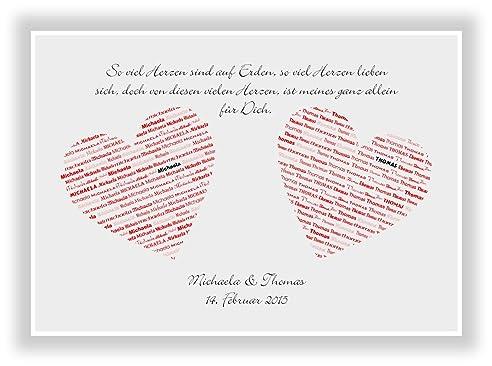 Geschenkidee Zur Hochzeit   Valentinstag   Heirat   Verlobung   Braut Oder  Bräutigam   Wanddeko Als