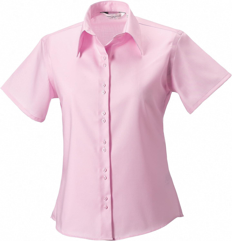 manga corta de última camisa no necesita plancha de la mujer: Amazon.es: Hogar