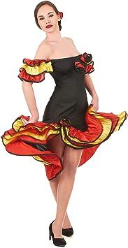 Vegaoo - Disfraz de bailaora Flamenca para Mujer - M/L: Amazon ...