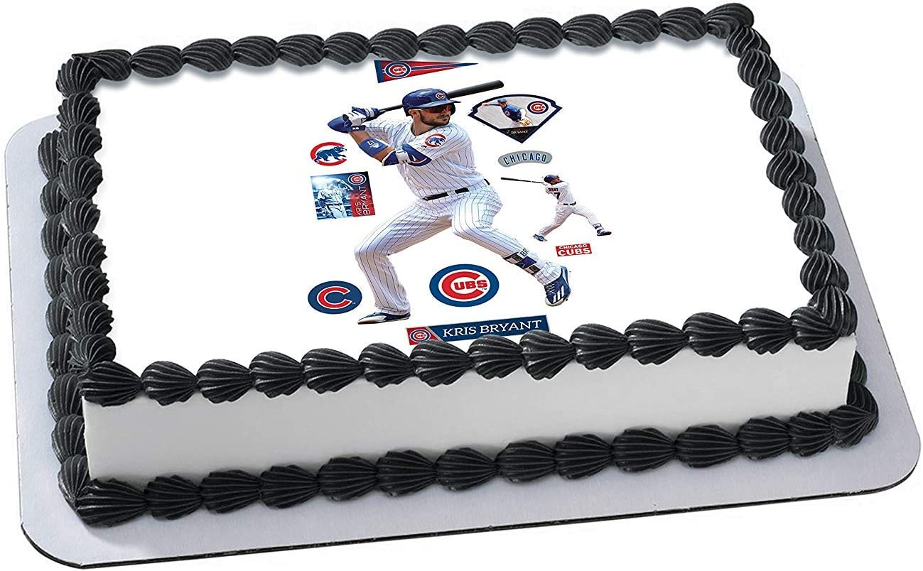 Pleasant Amazon Com Kris Bryant Chicago Cubs Edible Image Cake Topper Personalised Birthday Cards Paralily Jamesorg
