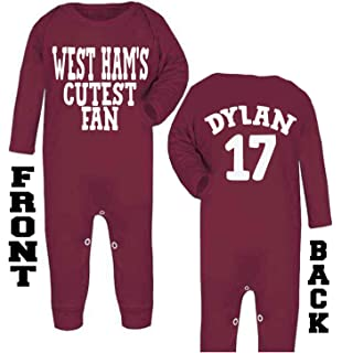 8f2ab5abcd6 Me and My Daddy Support West Ham Baby Vest Hat and Bib Set Babygrow ...