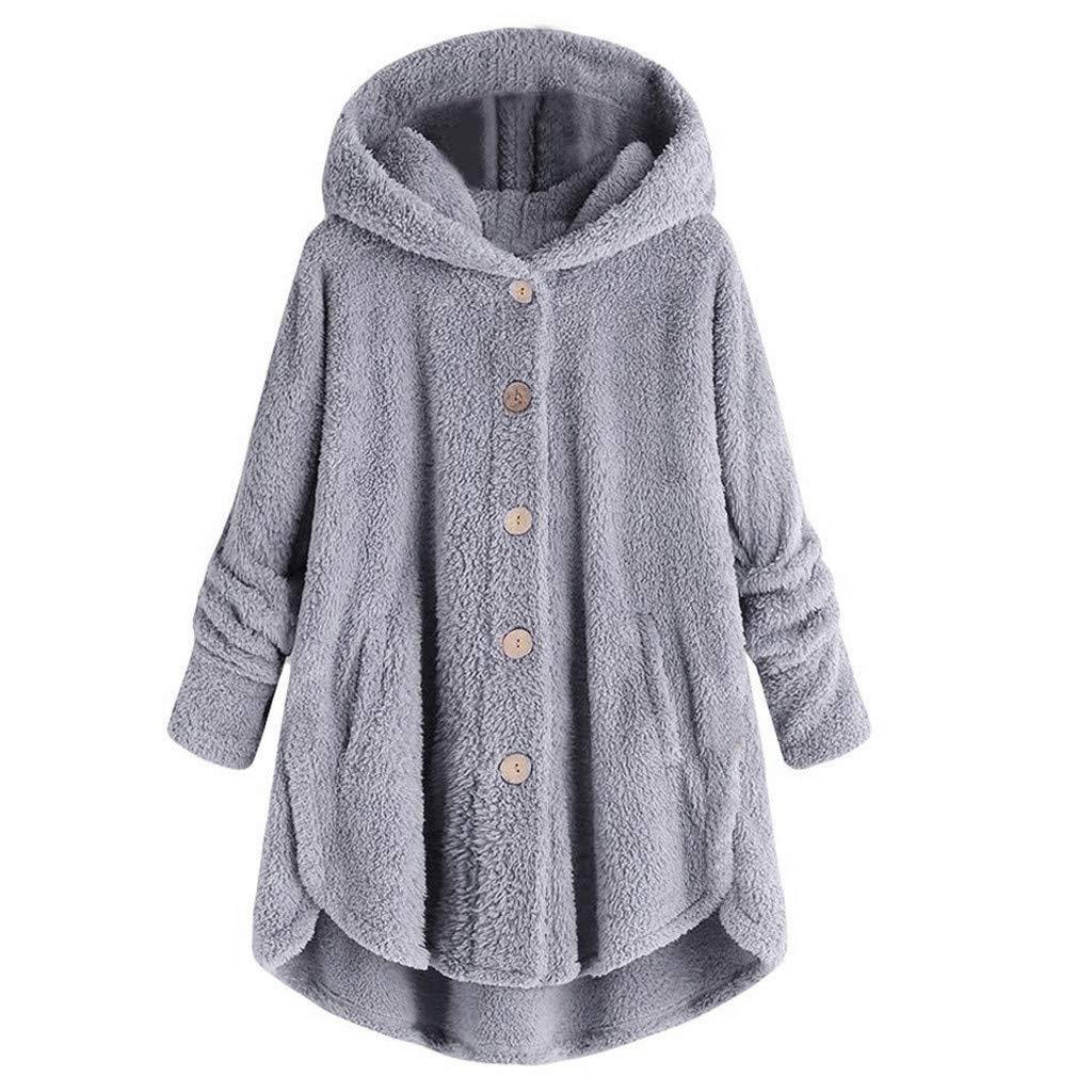 ModaParis Womens Oversized Warm Double Fuzzy Hoodies Casual Loose Pullover Hooded Sweatshirt Outwear