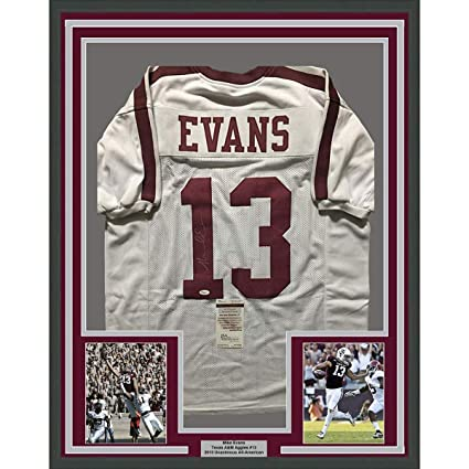 sale retailer 1b178 d750b Framed Autographed/Signed Mike Evans 33x42 Texas A&M Aggies ...