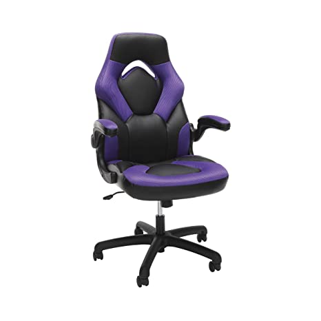 Ofm Racing Style Bonded Leather Gaming Chair, In Purple (Ess 3085 Pur) by Ofm