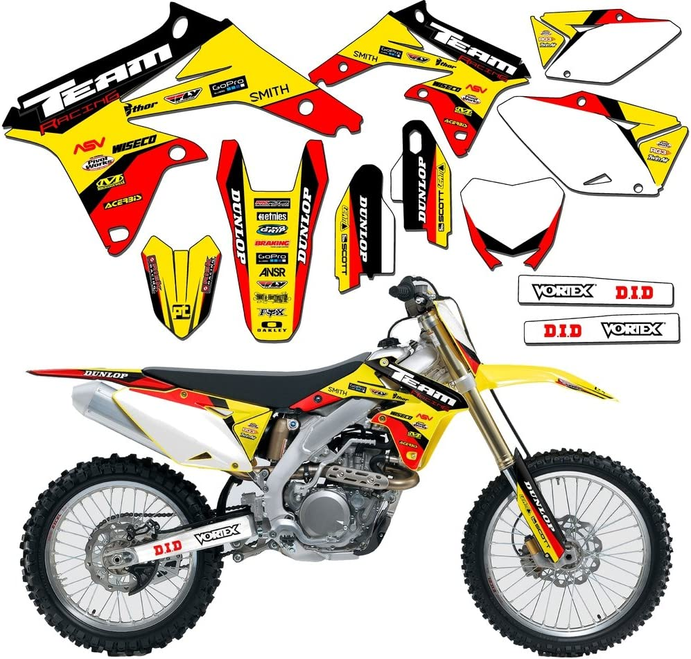 EVOLV Team Racing Graphics kit compatible with Suzuki 2001-2015 JR80