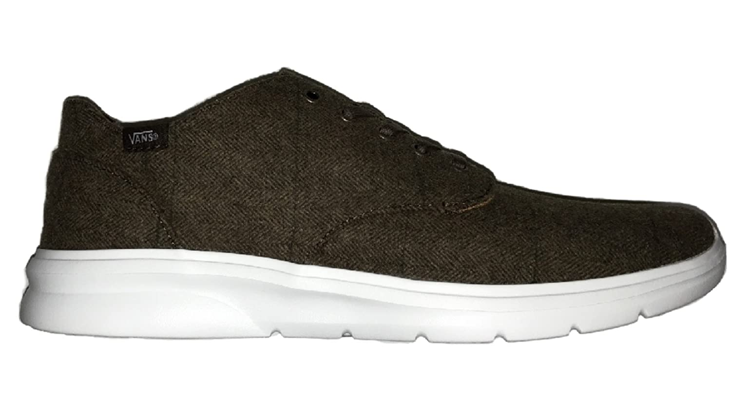 Vans Men's Iso 2 Tweed Casual Shoes 10 B(M) US Women / 8.5 D(M) US Men|Potting Soil/White