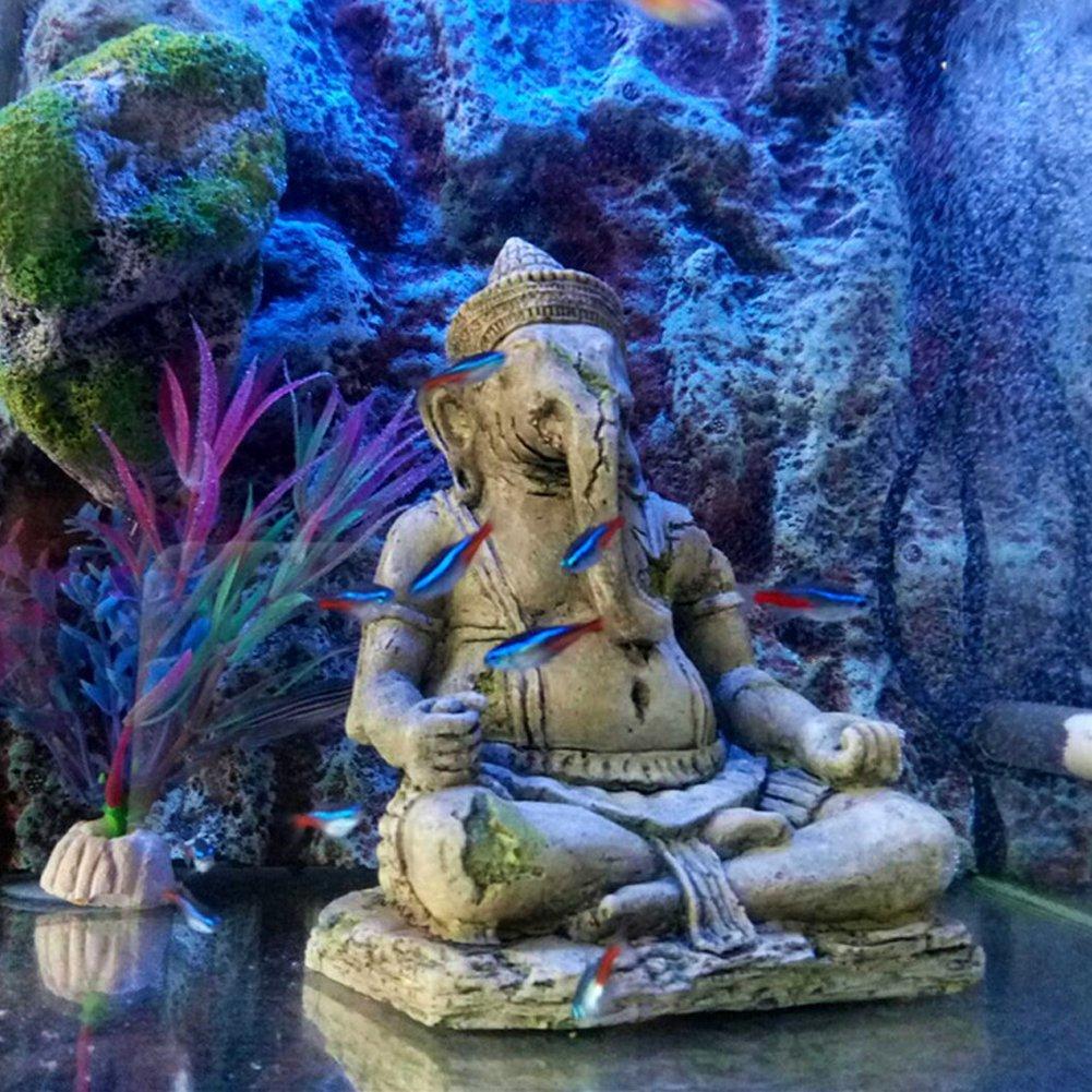 Dytiying Adornos para acuario con diseño de Buda Ganesh de resina: Amazon.es: Productos para mascotas