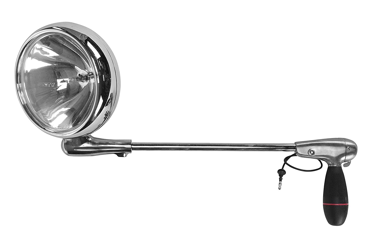 6 inch 100W Halogen 2013 Volvo VNL670 Sleeper Side Roof Mount Spotlight Driver Side with Install kit -Chrome
