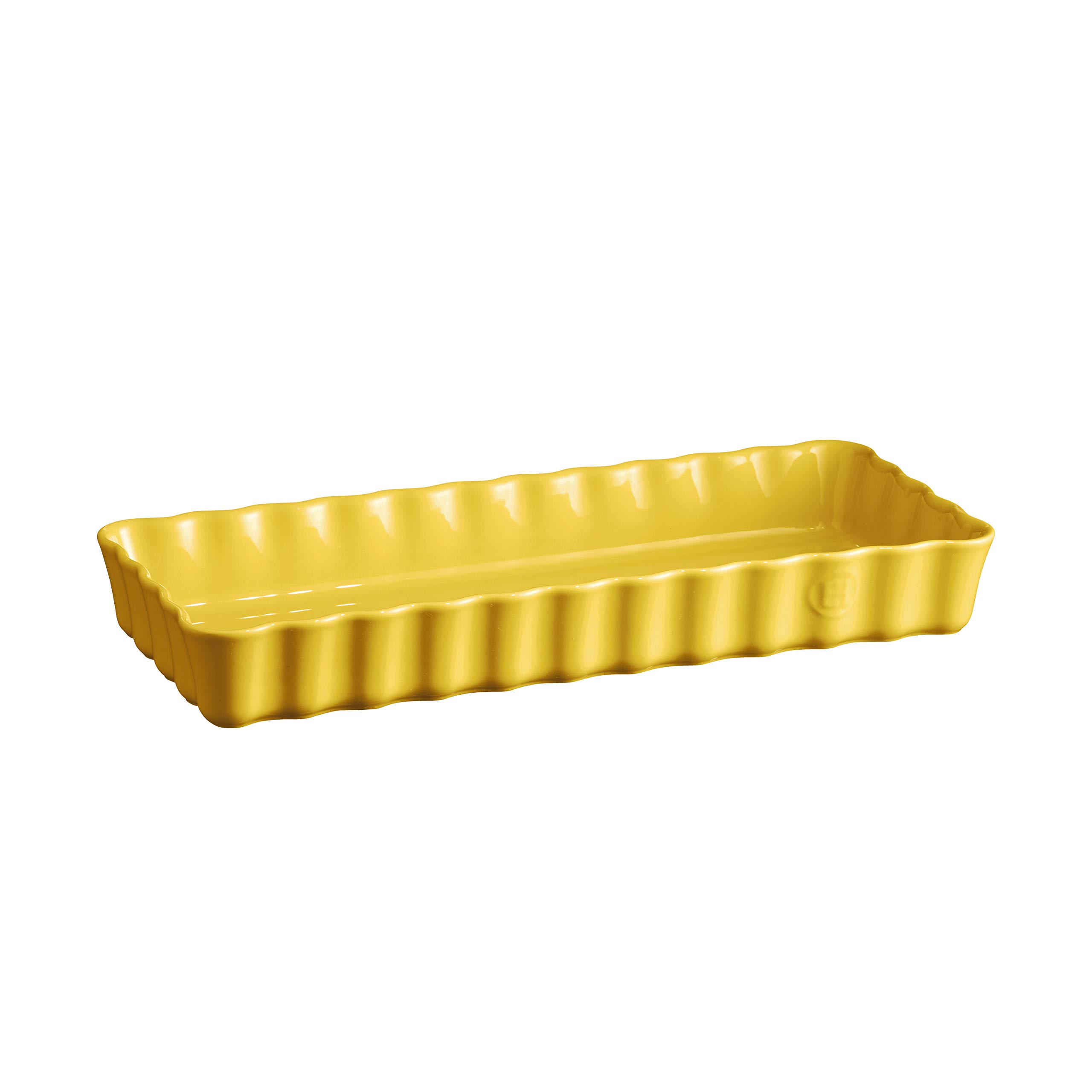 Emile Henry 906034 Small, Provence Yellow Rectangular Tart Dish, 1.7 qt,