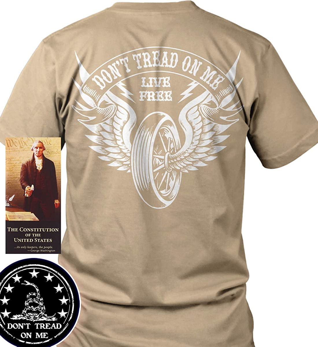 7eed9bd5 Don't Tread on Me: Winged Wheel: Live Free Port & Co. T-Shirt | Amazon.com