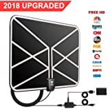 Amazon.com: TV Antenna, Indoor HDTV Antenna 1080P 50-80 Miles Range with 2018 Newest Type Switch Console Amplifier Signal Booster, USB Power Supply and 16.45ft Coax Cable, Black Appearance (2018 New Version): Electronics - 웹