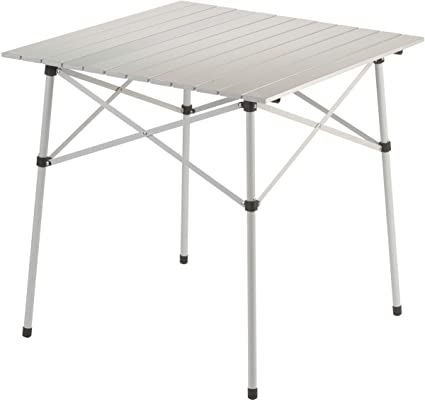 Amazon Com Coleman Outdoor Folding Table Ultra Compact Aluminum Camping Table Camping Tables Sports Outdoors