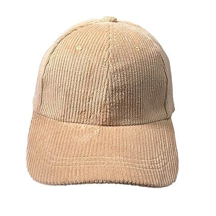 08625b414bf KFSO Men Women Unstructured Cotton Cap Adjustable Plain Hat Dad Cap (Beige)