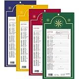 LECAS - 1 Plaque Calendrier Mensuel Long Classique - Janv. à Déc. 2018 - 16 x 33,3 cm - 4 coloris disponibles
