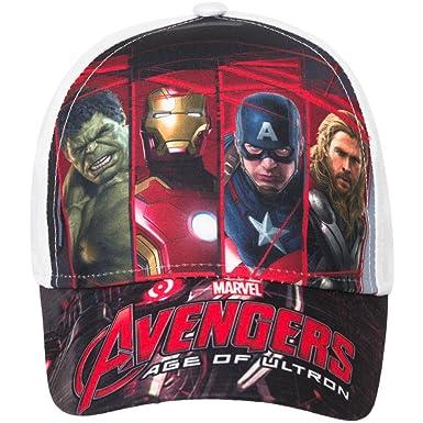 Marvel Avengers Gorra de béisbol para niños, color blanco ...