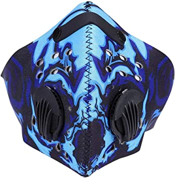 Amazon Com Sports Dust Mask Anti Pollution Half Face Mask Activated Carbon Filtration Windproof Breathable Protective Mask Running Skiing Motorcycle Cycling Mask Blue Sports Outdoors