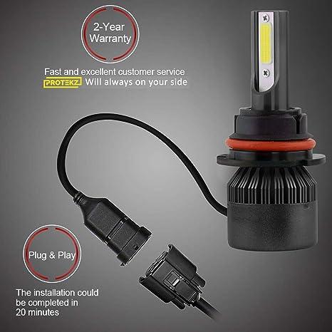 Protekz 6000K LED Headlight Kit for 2003-2005 Saturn L SERIES 9005 HighBeam Bulb