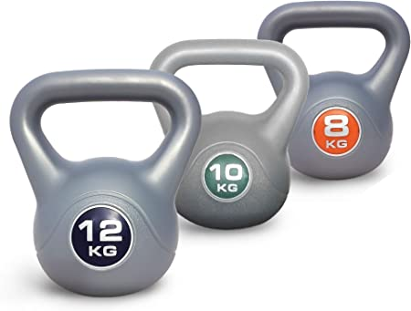 Weights Dumbbells Gym Strength Uk Stock New Work Out 8KG Kettlebell