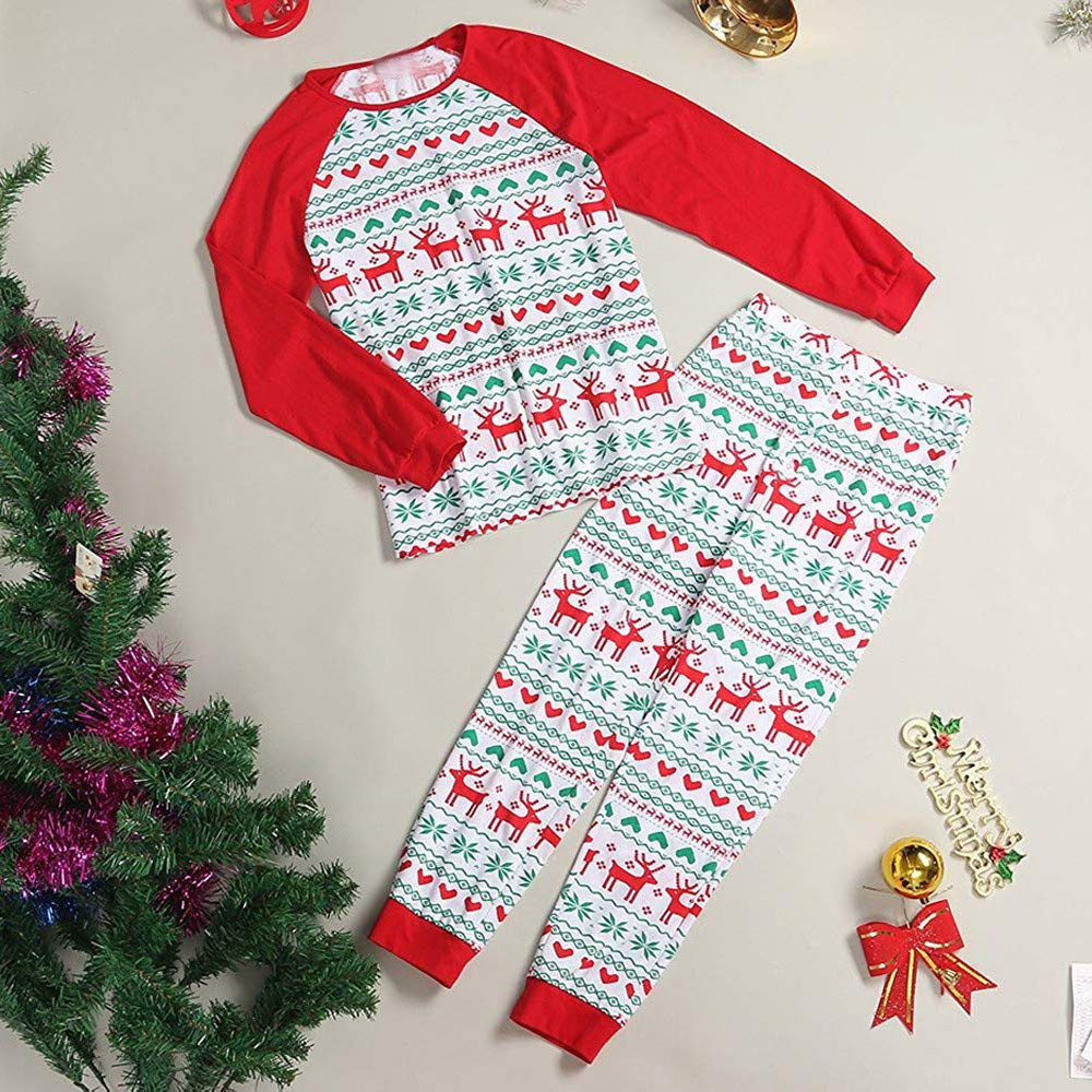 Matching Family Pajamas Christmas Tree Sleepwear Cotton Kids PJs Pants Set
