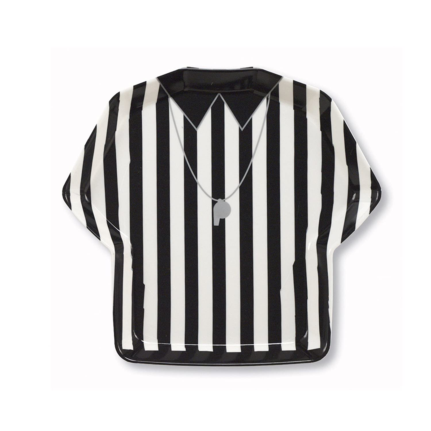 Creative Converting Referee Stripe Plastic Shirt Shaped Serving Tray, Football (Discontinued by Manufacturer) Creative Converting-Toys 064051