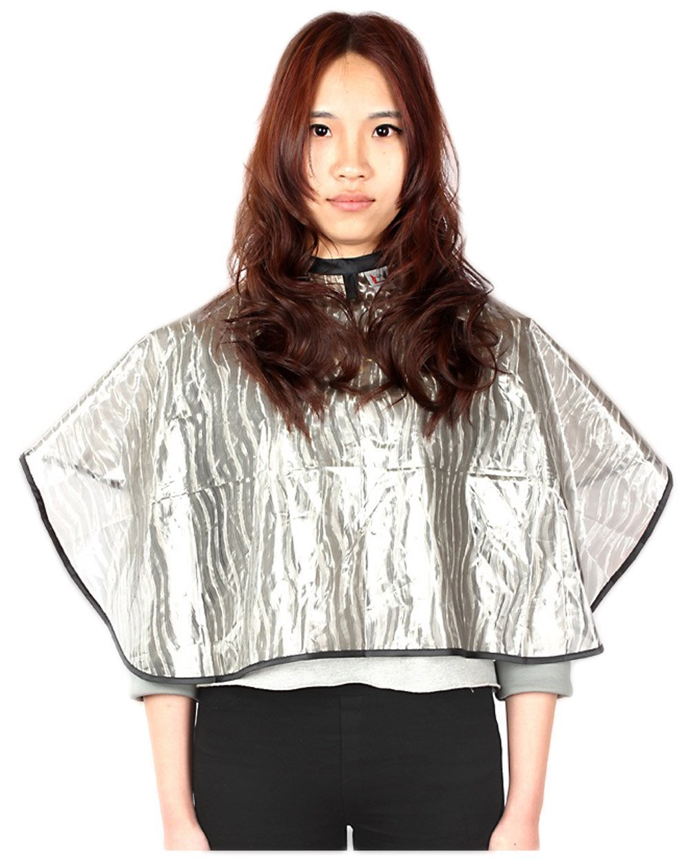 Short Salon Barbers All-purpose Cape, Waterproof Coloring Cape with Velcro Closure (Pack of 1) Perfe Hair SW011