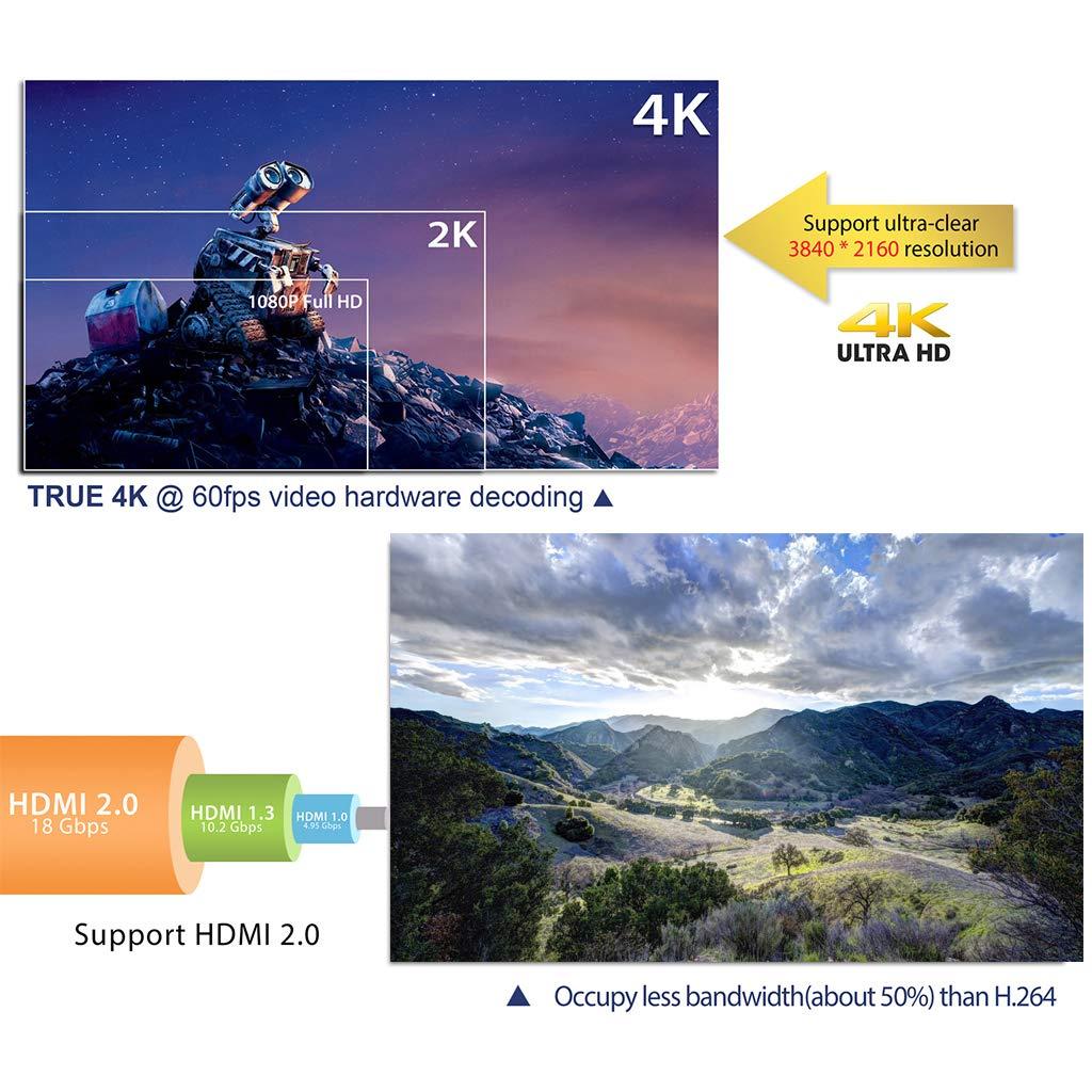JUNESUN 1Set HK1 Mini Android 8.1 RK3229 2GB+16GB Smart TV Box Quad Core 4K WiFi Video Movie Media Player Set Top Box Device by JUNESUN (Image #6)