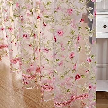 rosa tulle moderno per finestre paralume in tessuto tende pura per ... - Tende Per Soggiorno Cucina