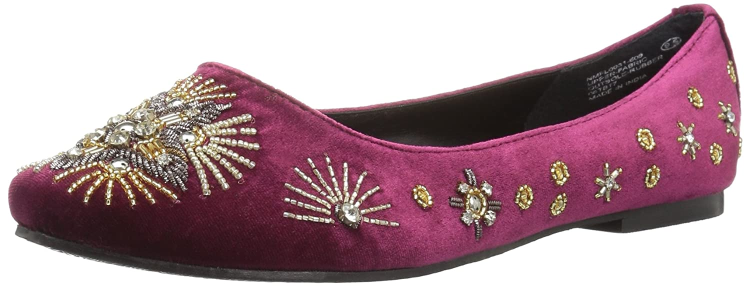 Naughty Monkey Women's Labonge Ballet Flat B0716M4FNY 9 B(M) US|Burgundy