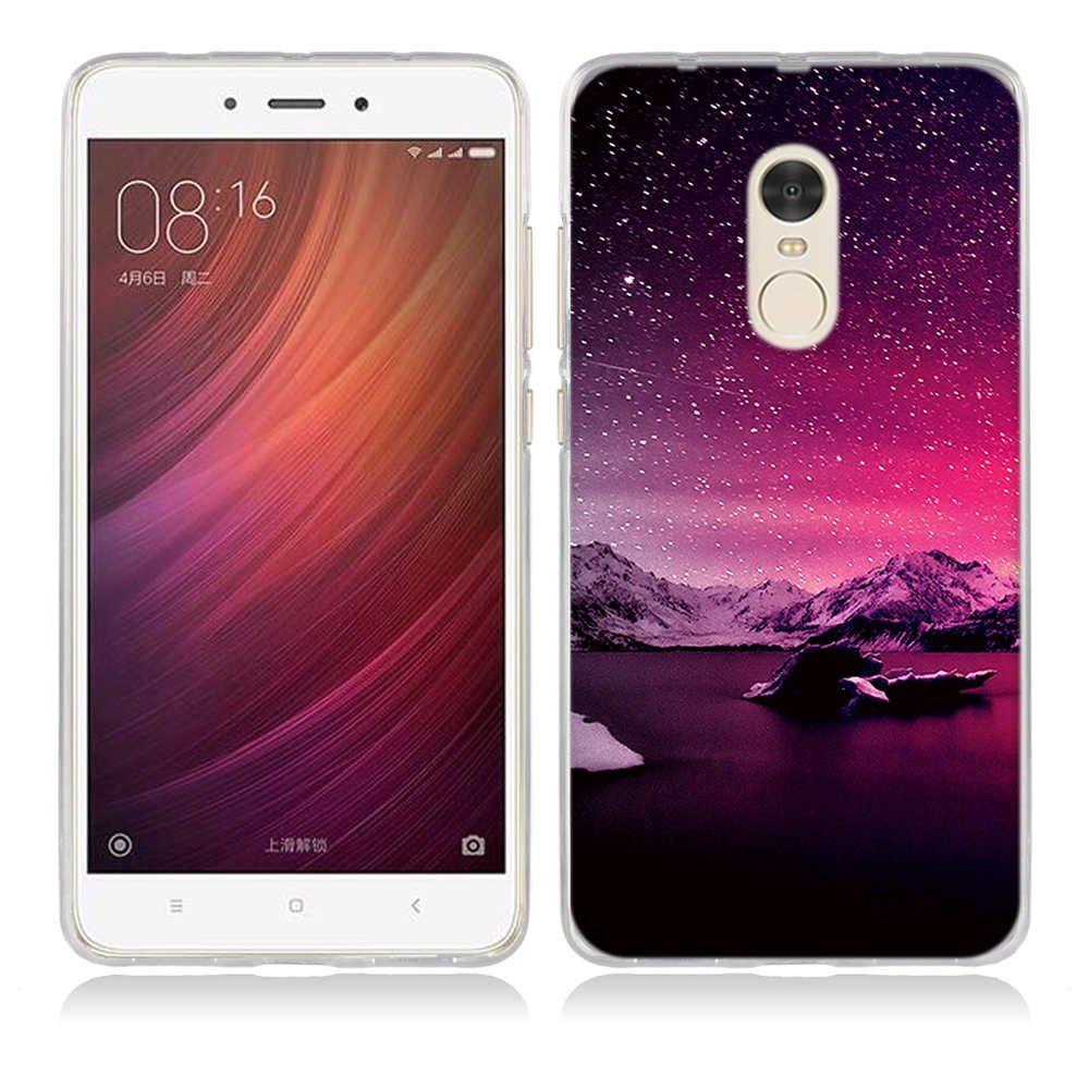 Funda Protectora para para Xiaomi Redmi Note 3 Gel de Silicona TPU Amortigua los Golpes FUBAODA Funda para Xiaomi Redmi Note 3 Serie Hermosa Aurora Noche