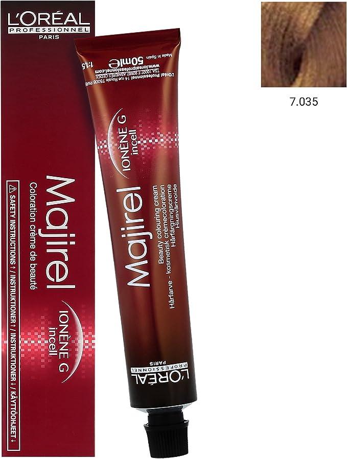 LOreal Majirel Tinte 7.035 - 50 ml: Amazon.es: Belleza