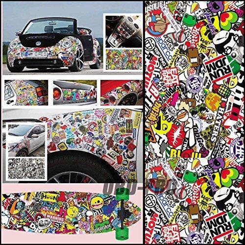 AR Wrap Sticker Bomb Graffiti Cartoon For Vehicle Motor Laptop DIY (Motor Computer)