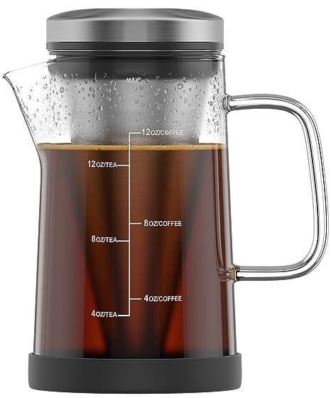 Amazon.com: Cafetera caliente y té – vidrio para café ...