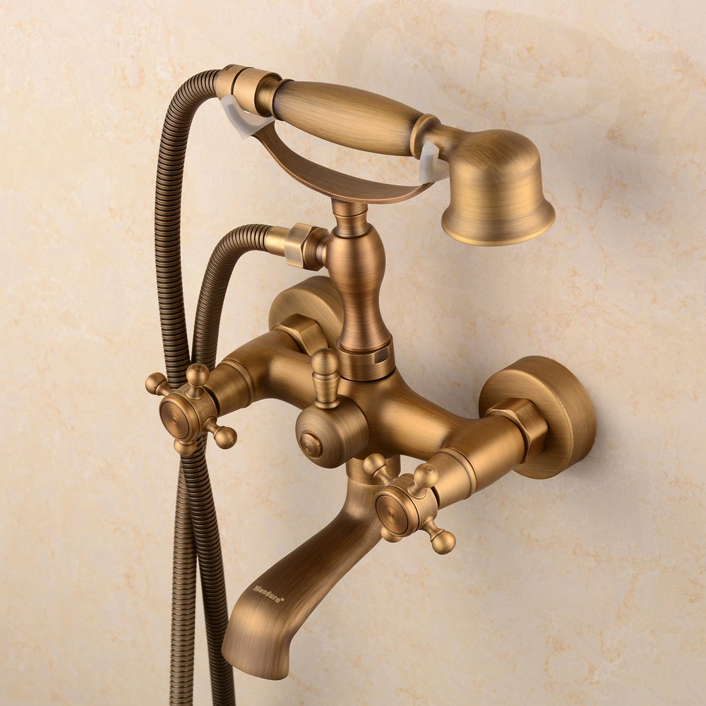 Hiendure Bathroom Wall Mounted Mixer Tub Filler Shower Faucet Sets ...