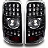 AUTOSAVER88 Black LED Tail Lights For Chevy Suburban 2000-2006 Tahoe 2000-2006 GMC Yukon (XL) 2000-2006 (Without Barn Doors)