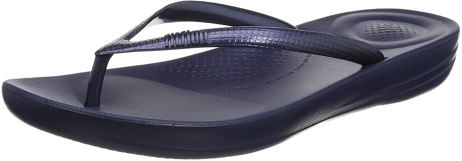 FitFlop Iqushion Ergonomic Flip-Flops, Sandalias con Punta Abierta para Mujer