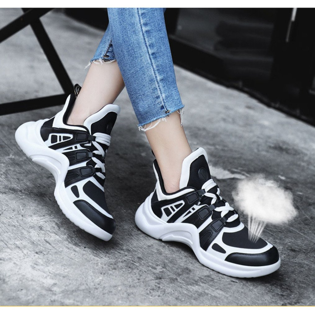 SBL Schuhe der Frauen der Herbstfrauen Super Beschuht Damensportschuhe der Breathable weiße Schuhe der Damensportschuhe Art und Weise,Schwarz,39 7284d4
