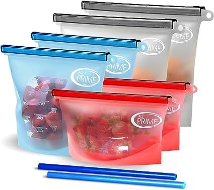 8 X Fridge Storage Bags Transparent Ziplper Lock Food Sack Thick Travel Case Pro