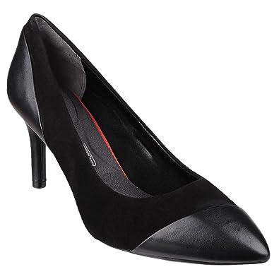 6e95839d82f2 Rockport Womens Ladies Total Motion Angle High Heel Pumps (8 UK) (Black