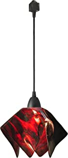 product image for Jezebel Signature Flame Track Lighting Pendant Small. Hardware: Brown. Glass: Azalea