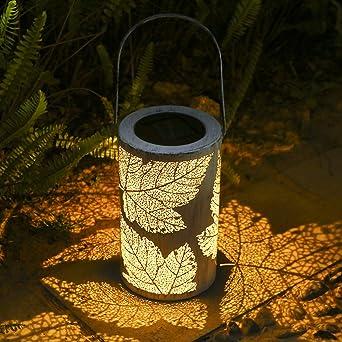 Lámpara de Luz LED de Energía Solar,Tomshine Farol Solar IP44 Impermeable Inalámbrico Portátil Recargable para patio de Jardín Patio Exterior: Amazon.es: Iluminación