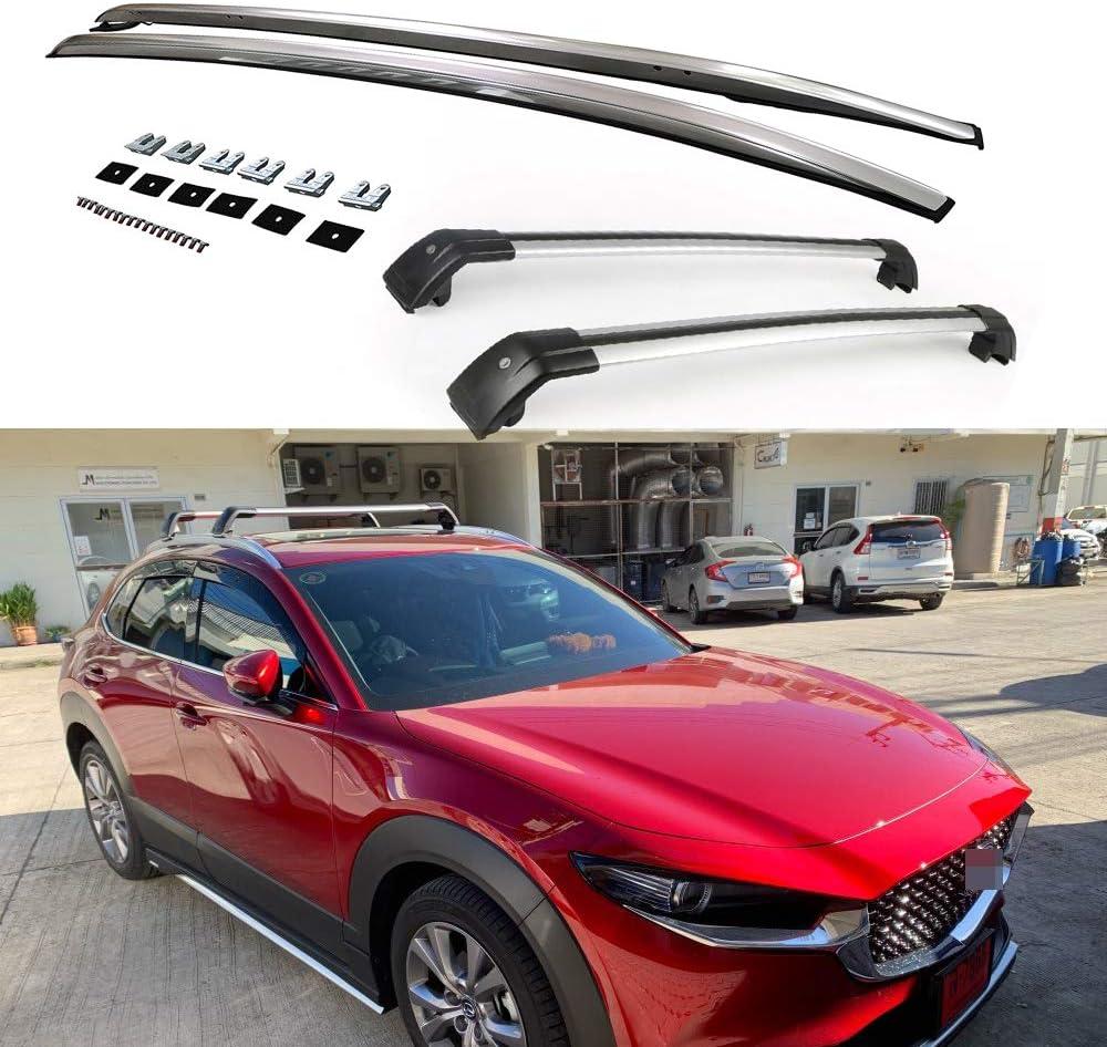 Udp Auto Gepäckträger Dachträger Seitenschiene Querstangen Querstangen 4 Stück Für Mazda Cx 30 Cx30 2020 2021 Auto