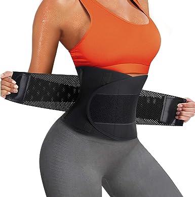 Waist Trimmer for Women/&Men Sweat Belt Breathable Belly Band Slimming Body Belly Shaper Belt